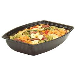 Cambro - RSB1014CW - Camwear® 5 Qt Black Rectangular Ribbed Bowl image