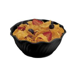 Cambro - SRB13 - SAN Swirl Bowl® 13 oz Black Serving Dish image