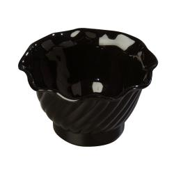 Carlisle - 453003 - 5 oz Black Tulip Serving Dish image