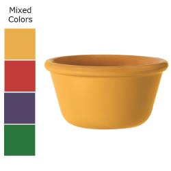GET Enterprises - RM-400-MIX - 4 oz Mardi Gras Mix Plain Melamine Ramekin image