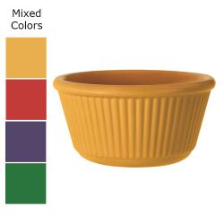 GET Enterprises - RM-401-MIX - 4 oz Mardi Gras Mix Fluted Melamine Ramekin image