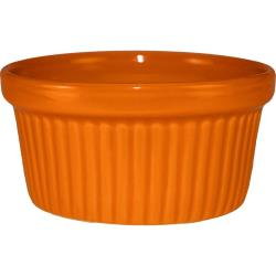 ITI - RAMF-10-O - 8 oz Orange fluted ramekin image