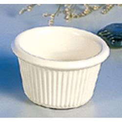 "Thunder Group - ML507B - 2 1/2""-1.5 oz. Bone Fluted Ramekin image"
