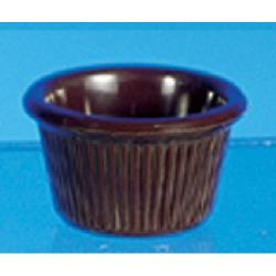Thunder Group - ML507C1 - 2 1/2 in - 1.5 oz Chocolate Fluted Ramekin image