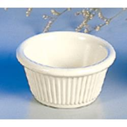 "Thunder Group - ML509B - 2 7/8""- 2 oz. Bone Fluted Ramekin  image"
