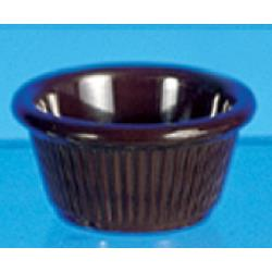 "Thunder Group - ML509C - 2 7/8""- 2 oz. Chocolate Fluted Ramekin  image"