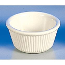 "Thunder Group - ML531B - 3 1/4""- 3 oz. Bone Fluted Ramekin  image"