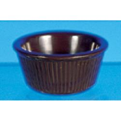 Thunder Group - ML531C1 - 3 1/4 in - 3 oz Chocolate Fluted Ramekin image
