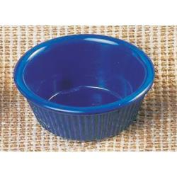 "Thunder Group - ML531CB - 3 1/4""- 3oz. Cobalt Blue Fluted Ramekin image"