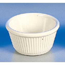 "Thunder Group - ML532B - 3 3/8""- 4 oz. Bone Fluted Ramekin  image"