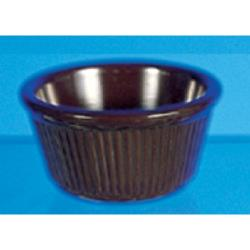Thunder Group - ML532C1 - 3 3/8 in - 4 oz Chocolate Fluted Ramekin image