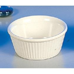 "Thunder Group - ML533B - 3 3/8""- 3 oz. Bone Fluted Ramekin  image"