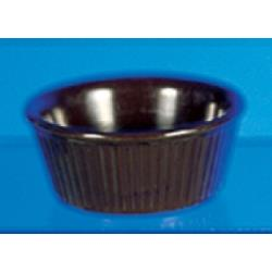 Thunder Group - ML533C1 - 3 3/8 in - 3 oz Chocolate Fluted Ramekin image