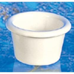 "Thunder Group - ML534B - 2 1/2""- 2 oz. Heavy Duty Bone Smooth Ramekin   image"