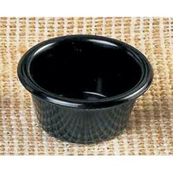 "Thunder Group - ML534BL - 2 1/2""- 2 oz. Black Smooth Ramekin  image"