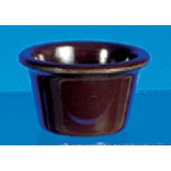 "Thunder Group - ML535C - 2 1/2""- 2 oz. Chocolate Smooth Ramekin  image"