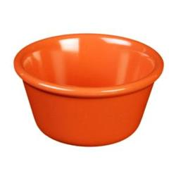 Thunder Group - ML536RD1 - 2 7/8 in - 2 oz Red-Orange Smooth Ramekin image