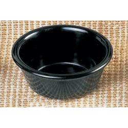 "Thunder Group - ML537BL - 3 1/4""- 3 oz. Black Smooth Ramekin image"
