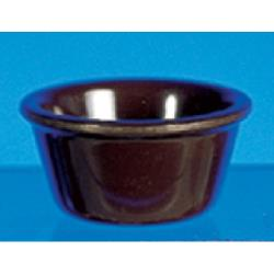 "Thunder Group - ML537C - 3 1/4""- 3 oz. Chocolate Smooth Ramekin   image"