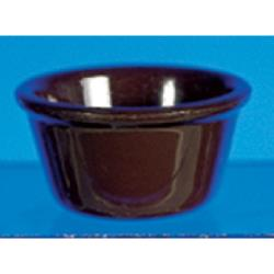 "Thunder Group - ML538C - 3 3/8""- 4 oz. Chocolate Smooth Ramekin   image"