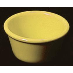 "Thunder Group - ML538YW - 3 3/8""- 4 oz. Yellow Smooth Ramekin image"