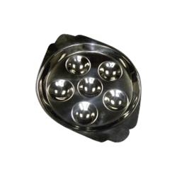 Winco - SND-6 - 6-Hole Escargot Dish image