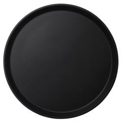 Cambro - 1600CT110 - 16 in Round Black Camtread® Serving Tray image