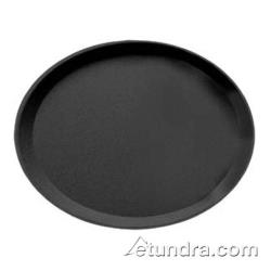 Cambro - 2500CT - Camtread 19 in x 23 in Oval Black Serving Tray image