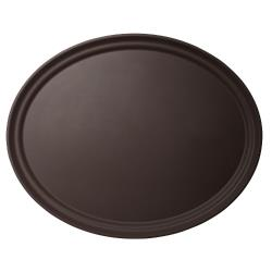 Cambro - 2500CT138 - Camtread® 19 in x 23 in Oval Tan Serving Tray image