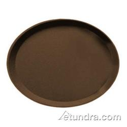 Cambro - 2700CT - Camtread 22 in x 27 in Oval  Tan Serving Tray image