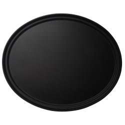 Cambro - 2700CT110 - 22 in x 27 in Oval Black Camtread® Serving Tray image