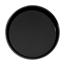 Cambro - PT1100 - Polytread 11 in Round Black Serving Tray image