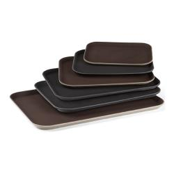 GET Enterprises - NS-1418-BR - 14 in x 18 in Brown Serving Tray image