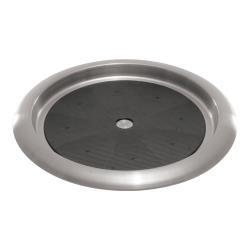 Service Ideas - TR119SR - 11 in Round Stainless Steel Serving Tray image