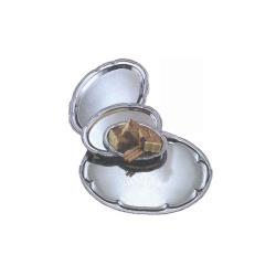 American Metalcraft - STOV128 - 12 in x 8 in Oval Chrome Affordable Elegance™ Tray image