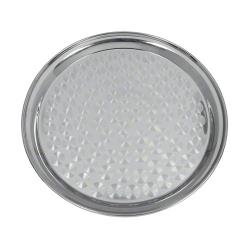Update International - SST-12R - 12 in Round Stainless Steel Serving Tray image