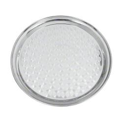 Update International - SST-14R - 14 in Round Stainless Steel Serving Tray image