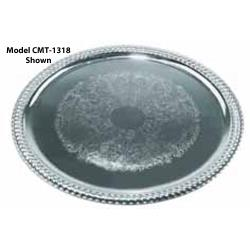 Winco - CMT-1014 - 14 3/4 in x 10 1/2 in Oval Serving Tray image