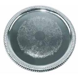 Winco - CMT-14 - 14 in Round Chrome Serving Tray image