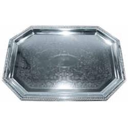 Winco - CMT-1420 - 20 in x 14 in Chrome Serving Tray image