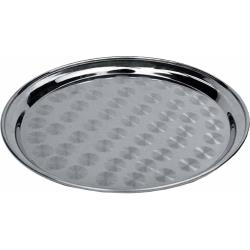 Winco - STRS-12 - 12 in Round Stainless Steel Serving Tray image