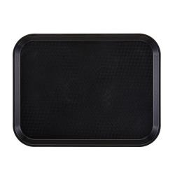 Cambro - 1216FF110 - 16 in x 12 in Black Fast Food Tray image