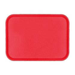 Cambro - 1418FF163 - 14 in x 18 in Red Fast Food Tray image