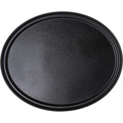 Carlisle - 2700GR2004 - 27 in x 22 1/3 in Oval Black Griptite™ 2 Serving Tray image