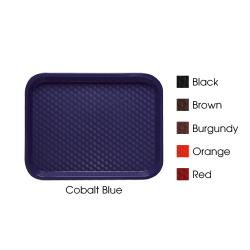 GET Enterprises - FT-14-CB - 14 in x 10 3/4 in Cobalt Blue Fast Food Tray image