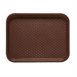 GET Enterprises - FT-18-BR - 18 in x 14 in Brown Fast Food Tray image