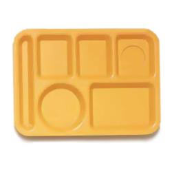 GET Enterprises - TL-152-TY - 10 in x 14 in Tropical Yellow Cafeteria Tray image