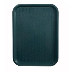 Winco - FFT-1014G - 10 in x 14 in Green Fast Food Tray image