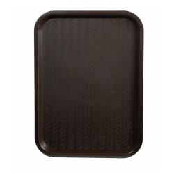 Winco - FFT-1418B - 18 in x 14 in Brown Fast Food Tray image