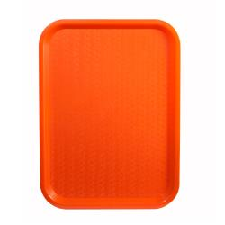Winco - FFT-1418O - 14 in x 18 in Orange Fast Food Tray image